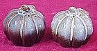 Fall harvest pumpkin gourd salt and pepper shakers
