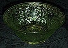 Indiana Tiara chantilly green sandwich glass salad bowl