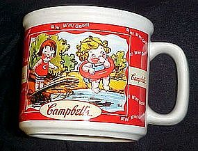 Campbell's kid's soup mug, swimming