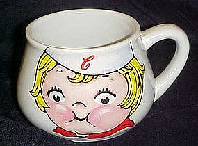 Campbell's soup mug, Campbell's kid face