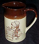 Vintage Holly Hobbie stoneware pitcher, Hearth and Home