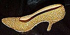 Just the right shoe, Golden Stiletto heel, by Raine