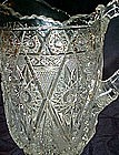 Vintage 1909 Imperial diamond Lace  crystal pitcher