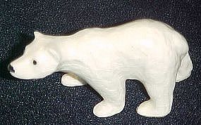 Porcelain miniature polar bear figurine