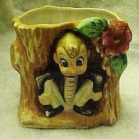 Vintage Acme Brownie  in a stump planter