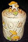 Treasure Craft  tree stump and mushrooms cookie jar