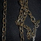 "53"" Park Land heavy gold tone chain"