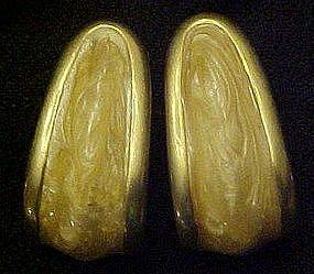 Napier enameled loop earrings, spring / screw backs