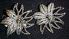 Vintage Sarah Coventry  Demi-Flower  clip earrings