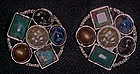 Vintage Sarah Coventry Happy Holiday clip earrings