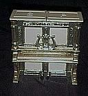 Vintage plastic upright piano salt