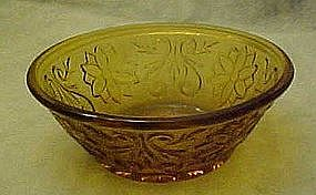 Tiara amber / gold sandwich glass, 4 3/4