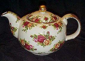 Royal Albert Old country Roses Teapot, signed on bottom