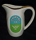 Seagrams Gin porcelain advertising martini pitcher