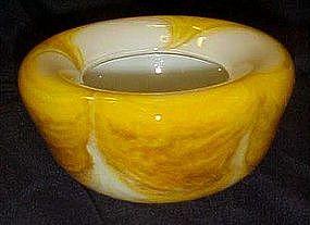 Beautiful Murano glass yellow agate drape bowl NGS