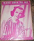 Make love to me sheet music Jo Stafford cover