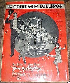 On the good ship Lollipop, Shirley Temple sheet music