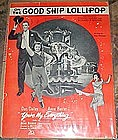 On the good ship Lollipop, Shirley Temple sheet music