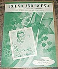 Round and Round. sheet music 1957, Perry Como cover