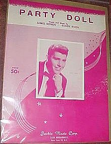 Party Doll, by Buddy Knox, Original sheet music