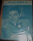 Dolores, sheet music by Frank Sinatra 1941