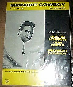 original sheet music, Midnight Cowboy, Johnny Mathis