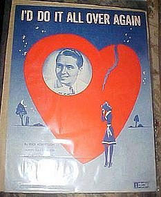 I'll do it all over again, vintage sheet music 1945