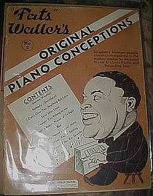 fats Waller ORIGINAL Piano conceptions #2, folio book