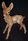 15 1/8, tall glazed pottery baby deer figurine
