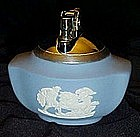 Wedgewood  Blue Jasperware table lighter, chariot
