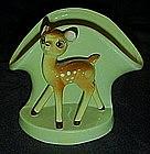 Vintage pottery Bambi deer vase / planter