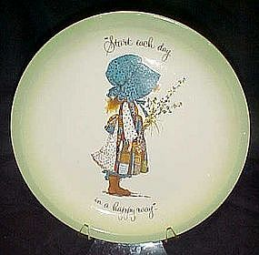 Holly Hobbie collectors edition plate, Start each day..