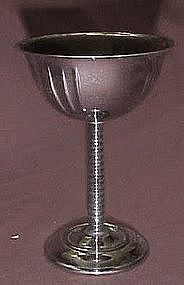 Vintage 30's chrome stemmed cocktail glasses