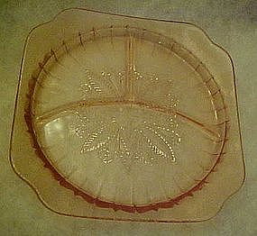 Pink Adam grill plate by Jeanette Glass  1932-1934