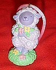 Avon purple lamb easter ornament