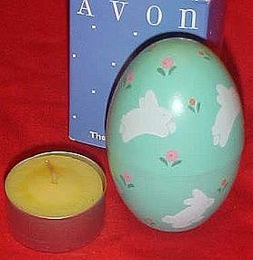 Avon Country Easter  egg candle tealight bunny