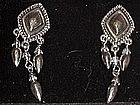 Avon western silver dangle earrings, new