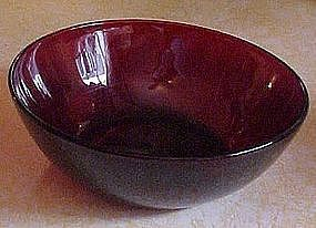 Fireking Royal Ruby 4000 dessert bowl  4 1/2