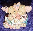 Enesco This little piggy makes Three, figurine   #13093