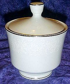 Crown Victoria Lovelace sugar bowl and lid