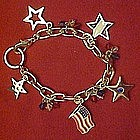 Fourth of July patriotic charm bracelet, New on card