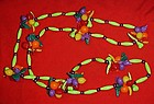 Fun  Funky plastic  tropical fruit necklace