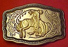 Bronc rider / bucking horse belt buckle