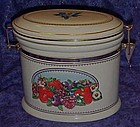Knotts Berry farm oval, fruits pattern canister
