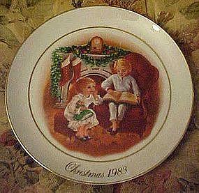 1983 Avon Christmas plate, Christmas memories