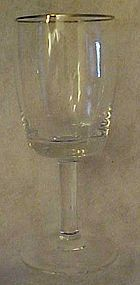 Gorham Accent 1551 crystal stemware platinum rim 5 3/4