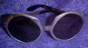 Retro  Diva sunglasses, Octagon, France silver frames