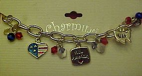 All American charm bracelet, new on card