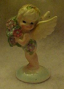 Rare Enesco fairy figurine with bouquet