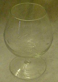 Princess House Crystal brandy  glass, heritage pattern